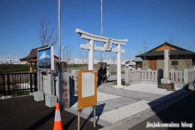 飯塚富士神社(葛飾区南水元)1