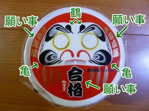 相模屋食料(株)「合格だるま豆乳湯とうふ」豆腐部分パッケージに注釈を追記