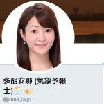 多胡安那 (気象予報士)🌦💫(@anna_tago)