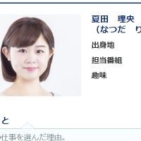 夏田理央アナ