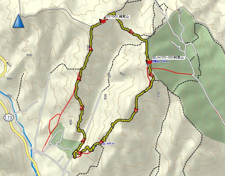 2019横尾山/地図