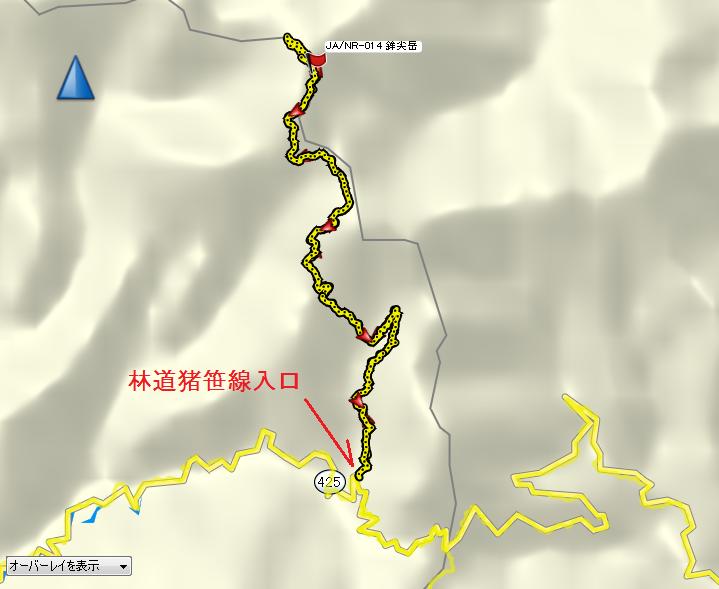 2019鉾尖岳/地図