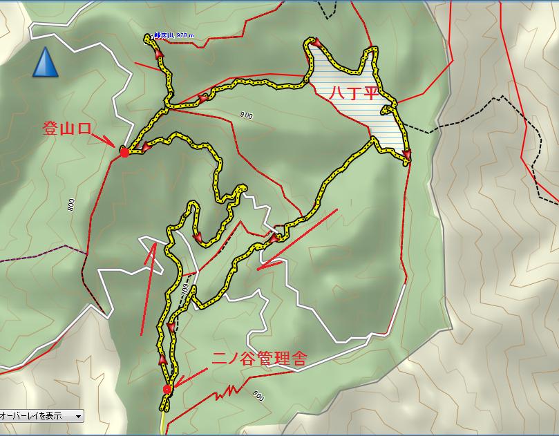 2019峰床山/地図
