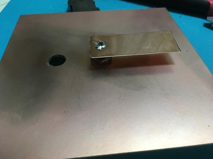 軸モードヘリカル/銅板設置