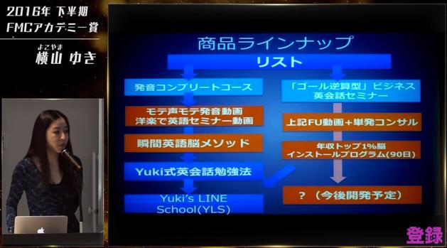 FMCアカデミー賞 2016 下半期 横山 ゆき YouTube