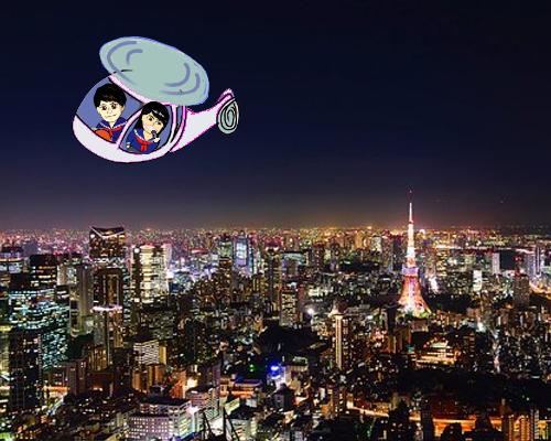 ヘリコプターこじじ  東京夜景
