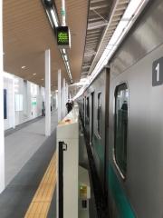 北綾瀬駅10両編成初乗車