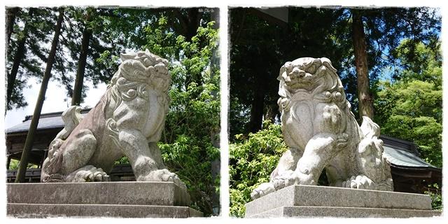 諏訪大社上社前宮・狛犬