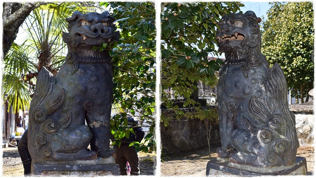 十二所神社・陶器製狛犬