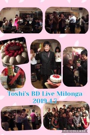 2019.4.7 Toshi's BD Live Milonga 1
