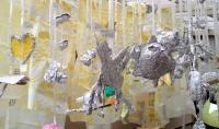 染色 絞り染め アルミホイルアート 子供絵画造形教室展覧会