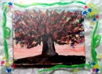 油絵とアクリル板額縁