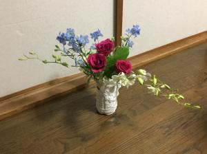 結婚記念日お花2