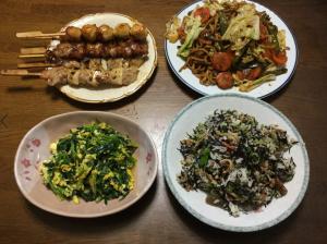 夕飯4種類