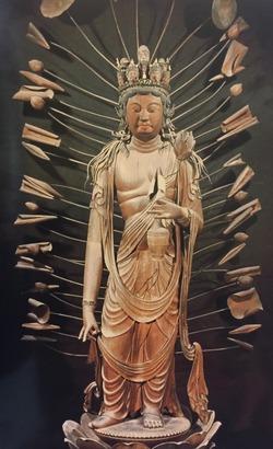 法華寺 十一面観音立像