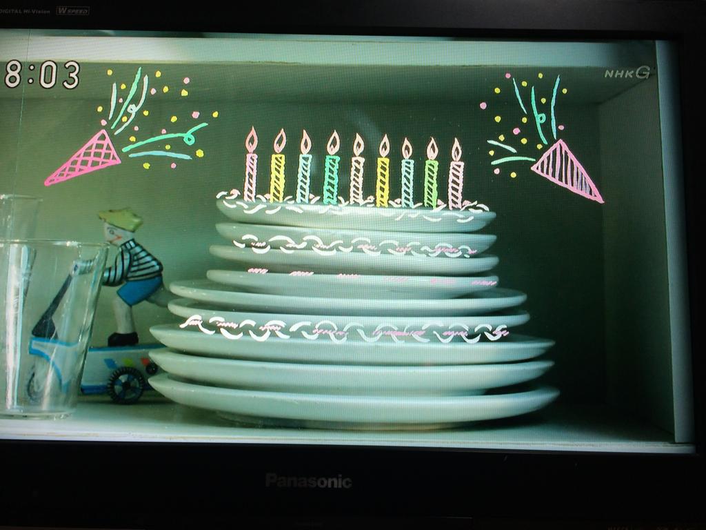 「お皿がケーキ」