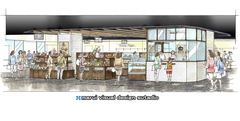 CIAL鎌倉・店内イメージパース