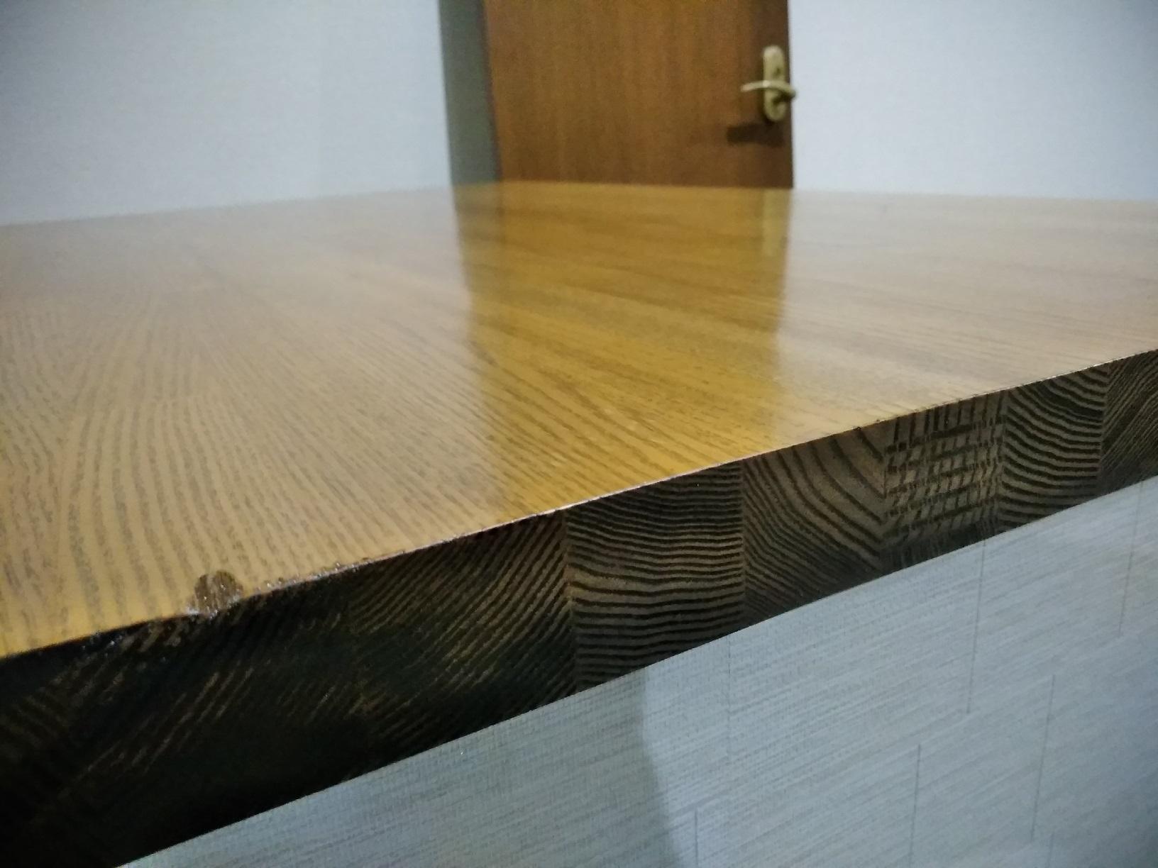 昭和店舗 カウンター天板塗装4