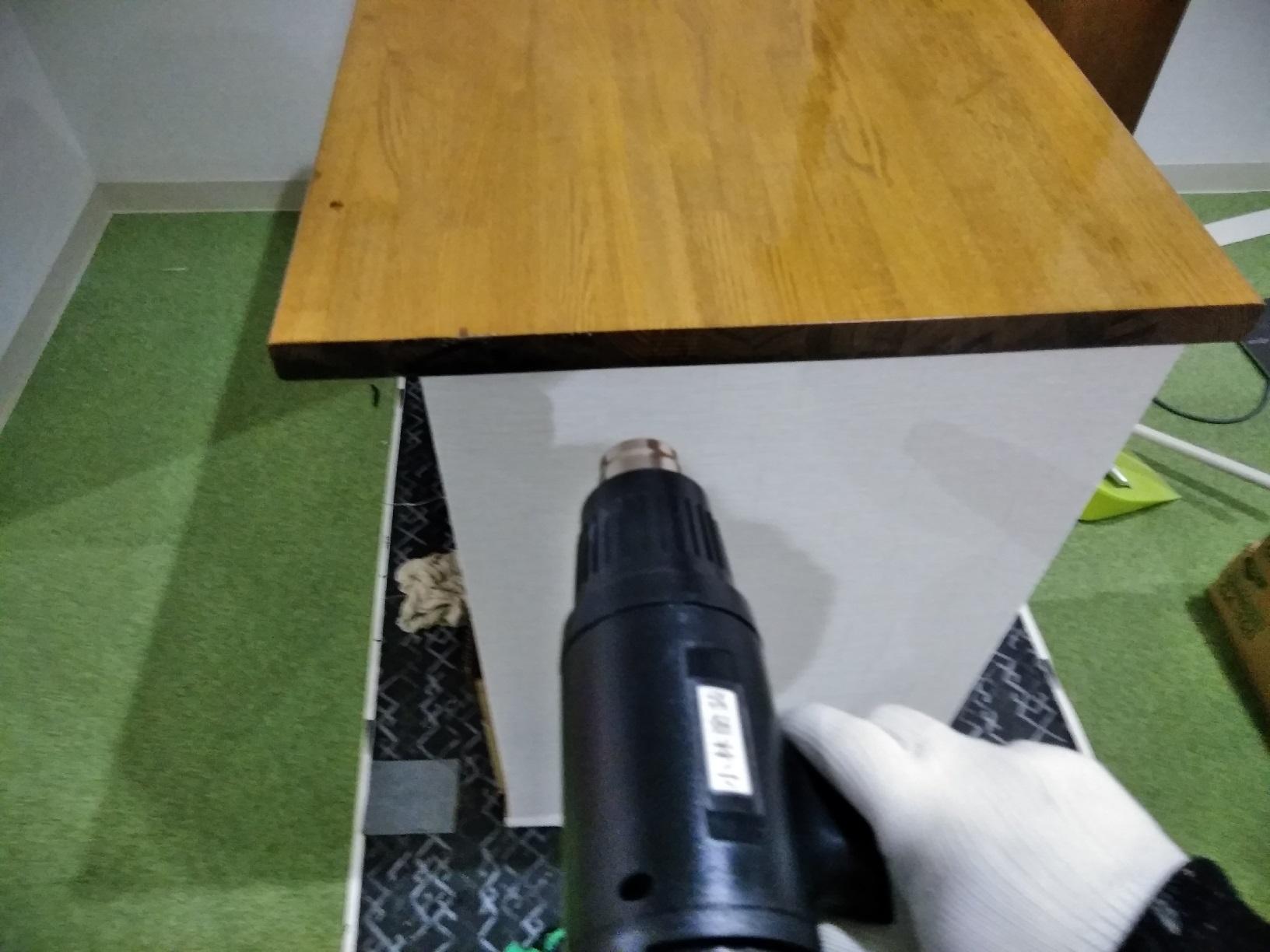 昭和店舗 カウンター天板塗装9