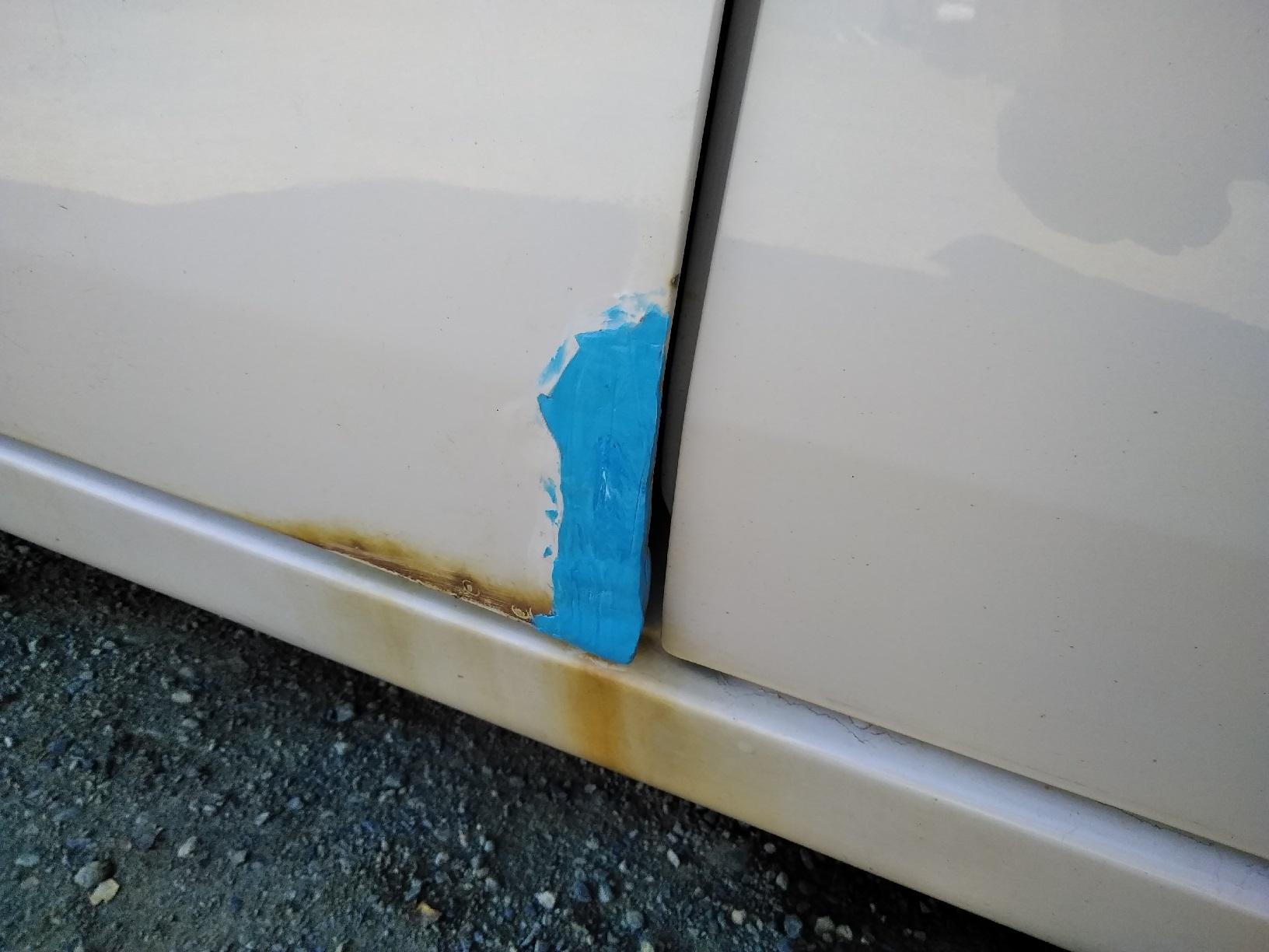 車のサビ傷の補修4