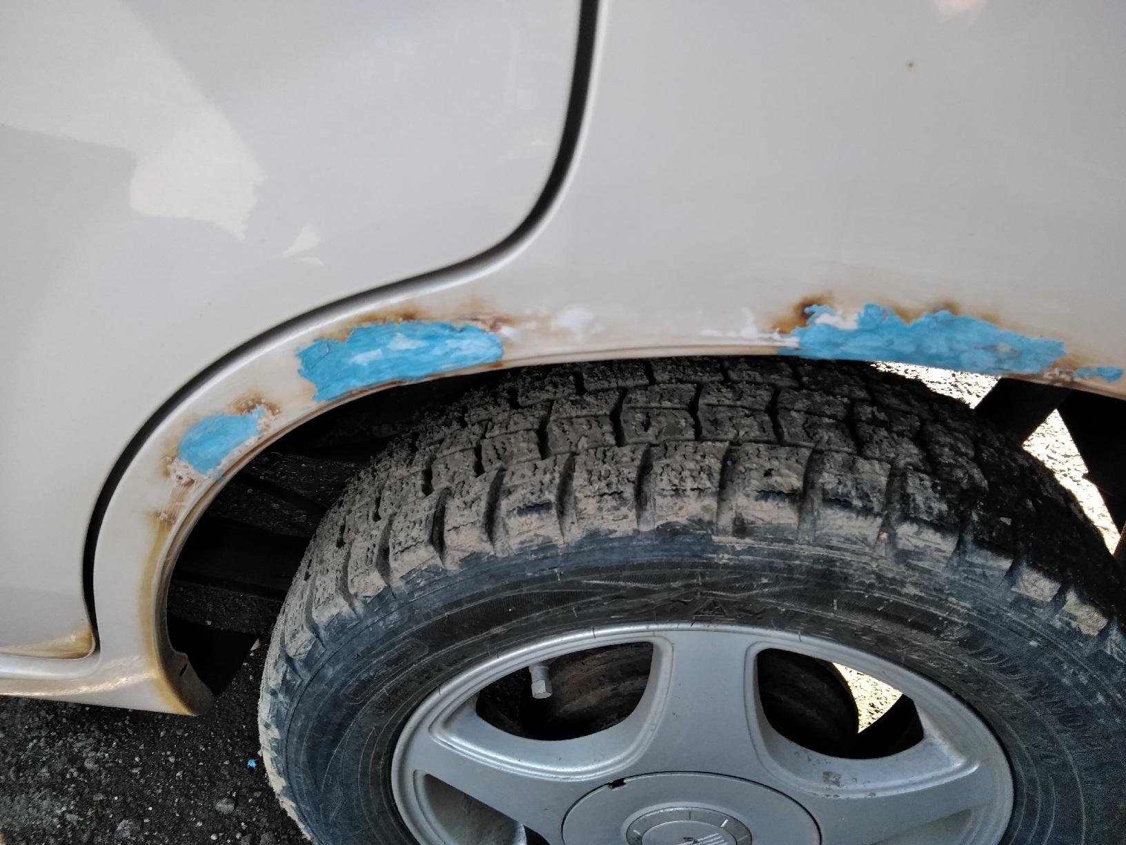車のサビ傷の補修5