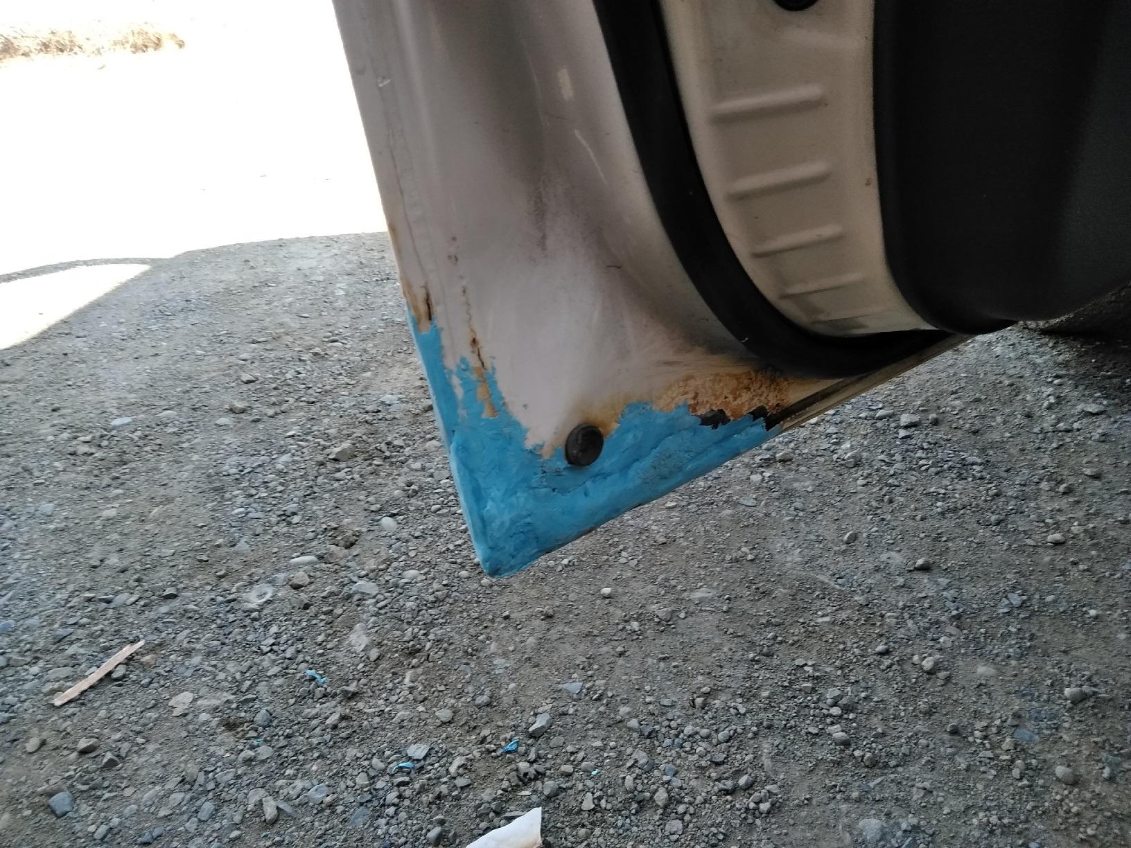 車のサビ傷の補修6