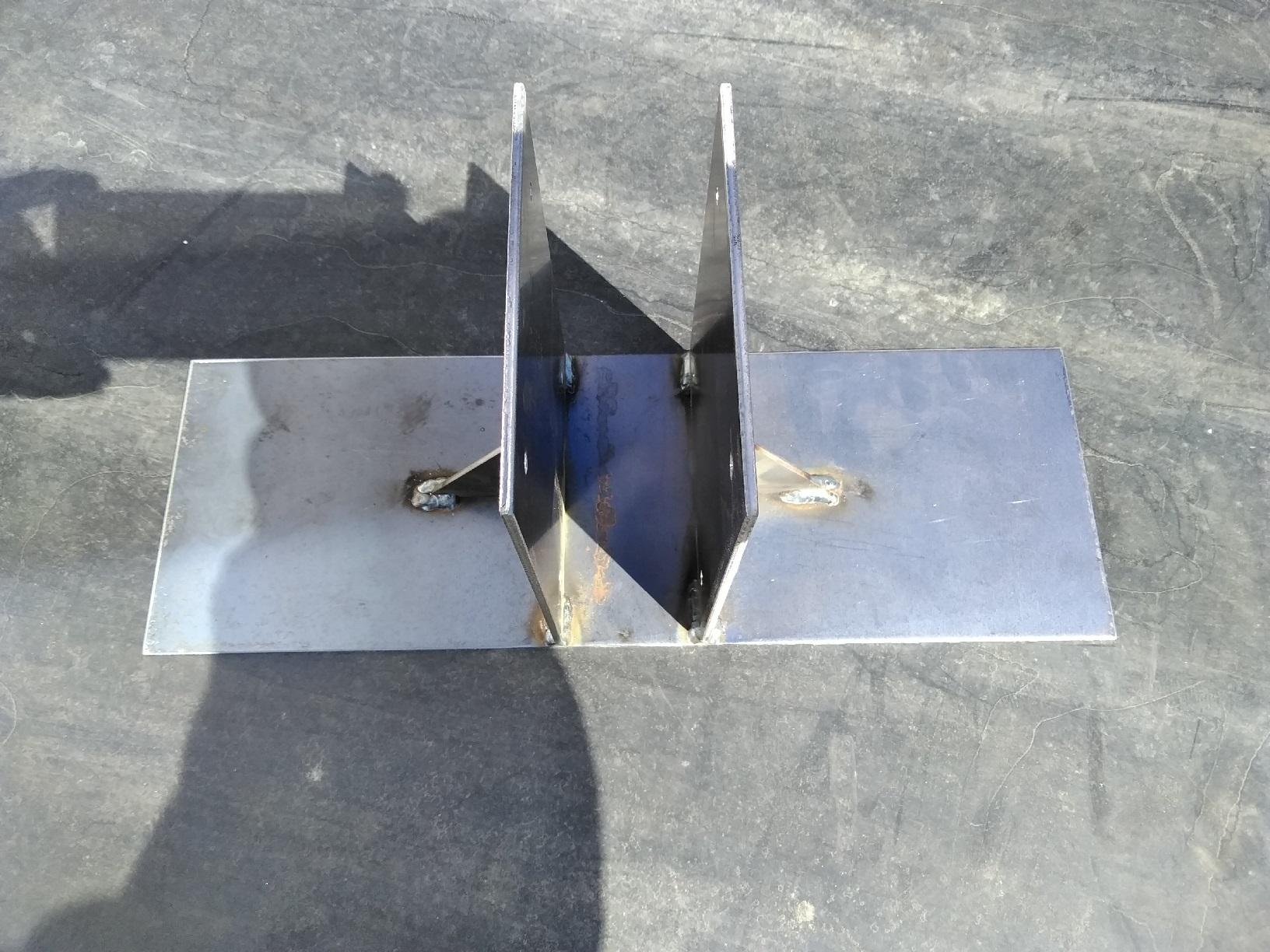浜中町 パネル設置土台塗装 現状見本2
