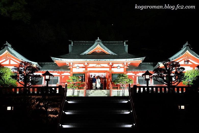足利織姫神社の夜2