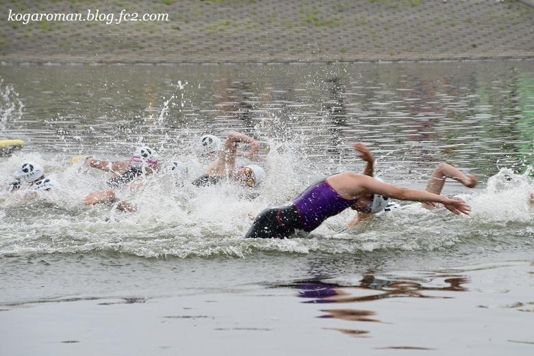 谷中湖でトライアスロン2