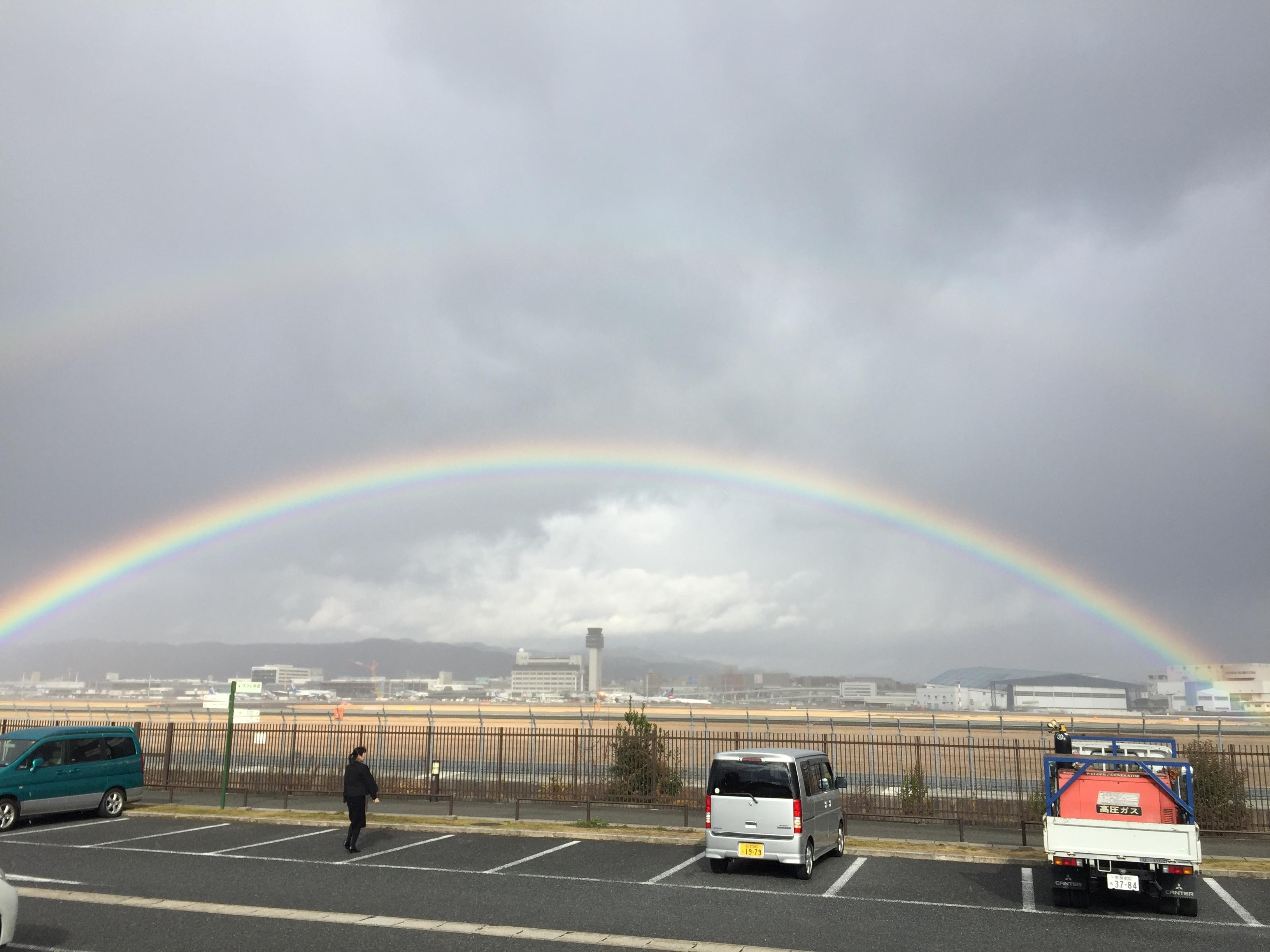 伊丹の2重虹
