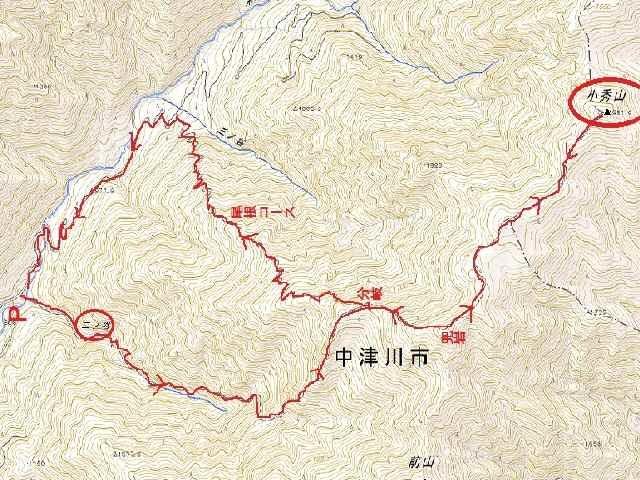 小秀山地図③