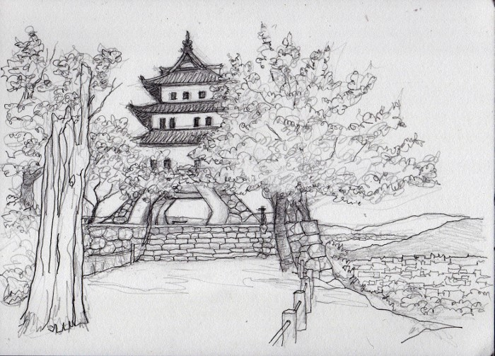 洲本城 デッサン (700x503)