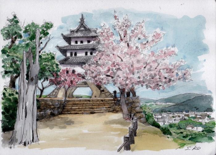 洲本城の桜 (700x503)