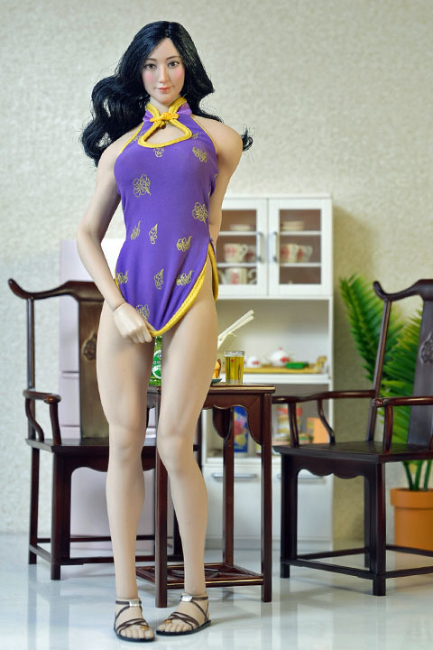 ultra short cheongsam suit 008