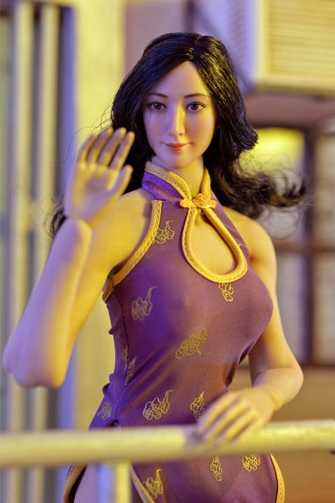 ultra short cheongsam suit 019