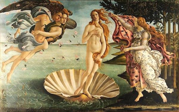 6-19サンドロ・ボッティチェッリ(1445年~1510年)の名画『ヴィーナスの誕生』