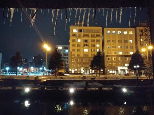 小樽倉庫No.1 から眺める小樽運河の景色