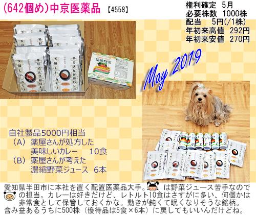 (642)2019年05月到着 中京医薬品