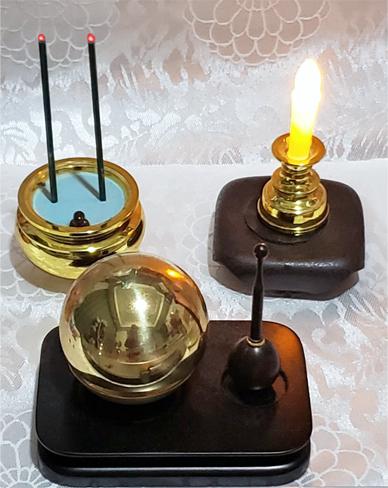 703△家の蝋燭とお線香