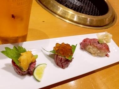 肉寿司最高♪