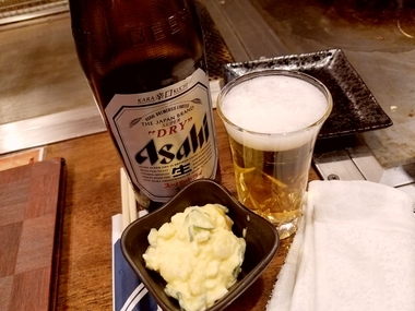 ビール旨し♪