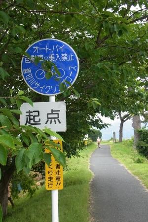 酒匂川サイクリングコースの起点