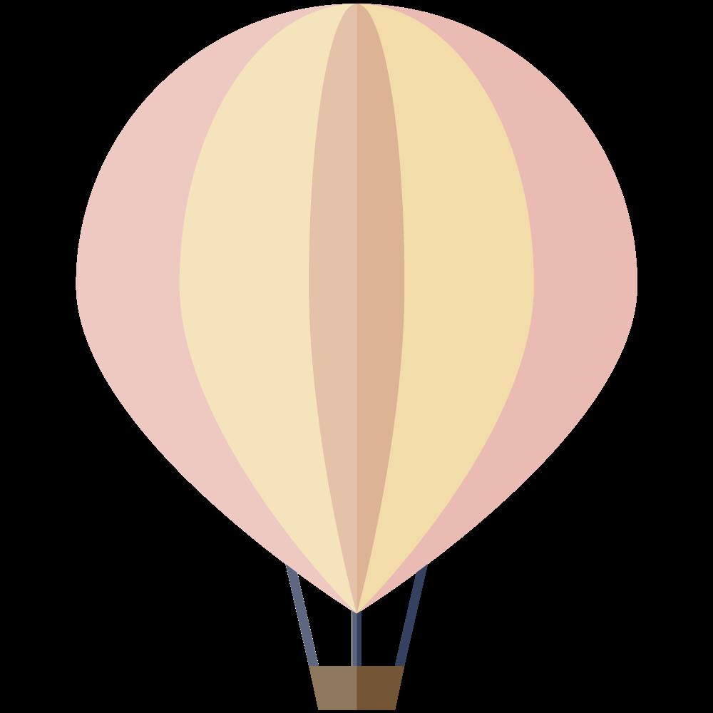 シンプルでかわいいピンクの気球のイラスト