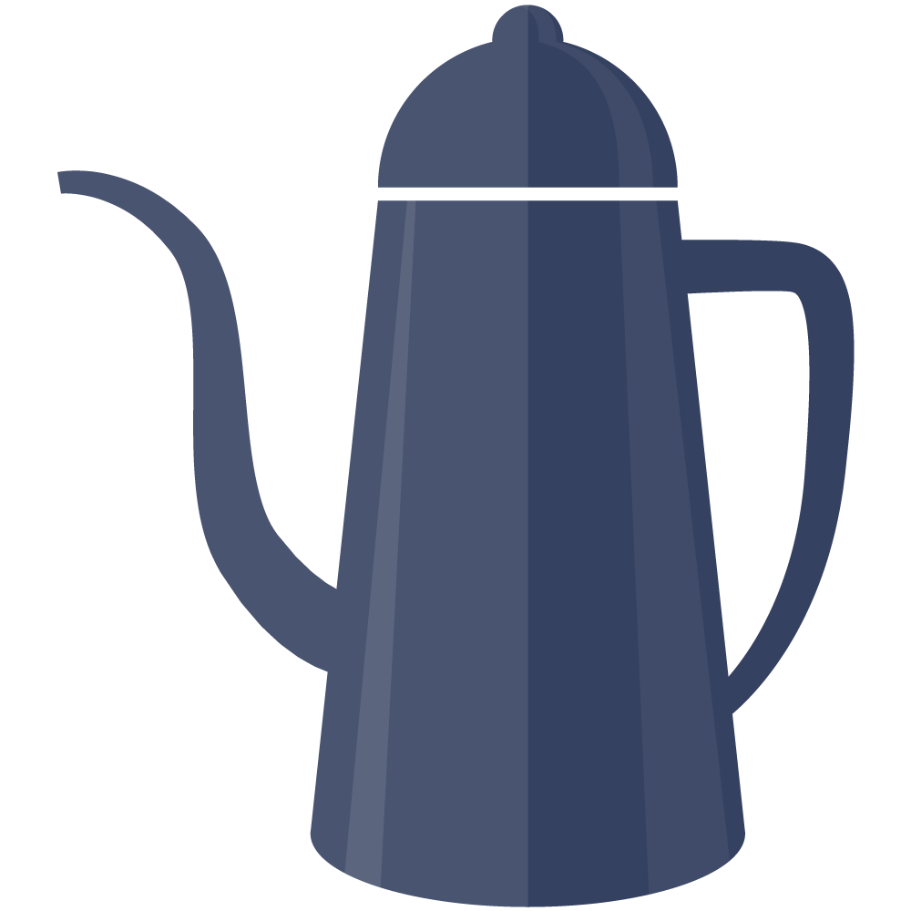シンプルでかわいいコーヒーポットのイラスト