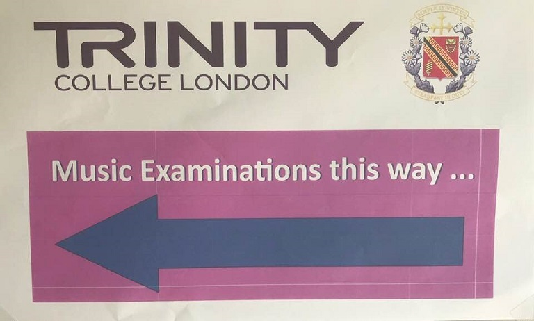 Trinity exam this way