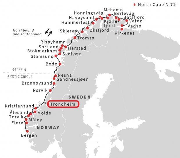ノルウェーポートの地図