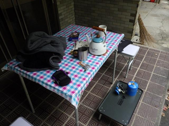 玄関先の休憩所