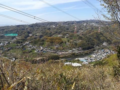 11 縦走路 眼下は大和川
