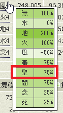 聖は75%