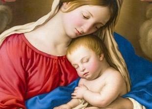 ジョヴァンニ・バッティスタ・サルヴィ 聖母子1 (2)